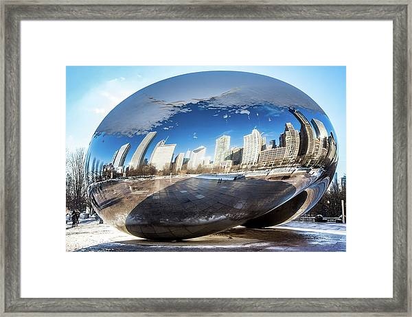 Reflecting Bean Framed Print