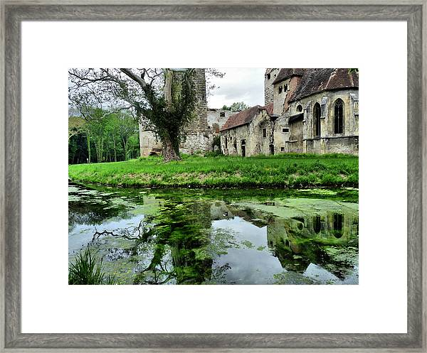 Reflection Of An Ancient Castle Framed Print