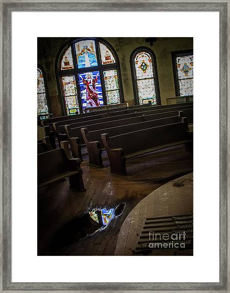 Reflection Of Tears Framed Print