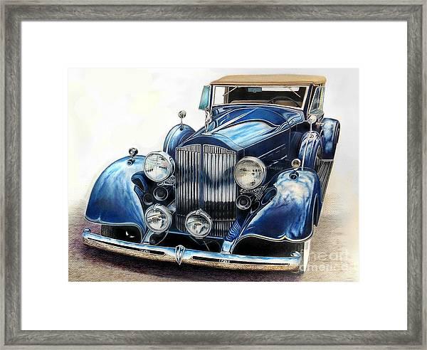 Reflection On Blue Framed Print