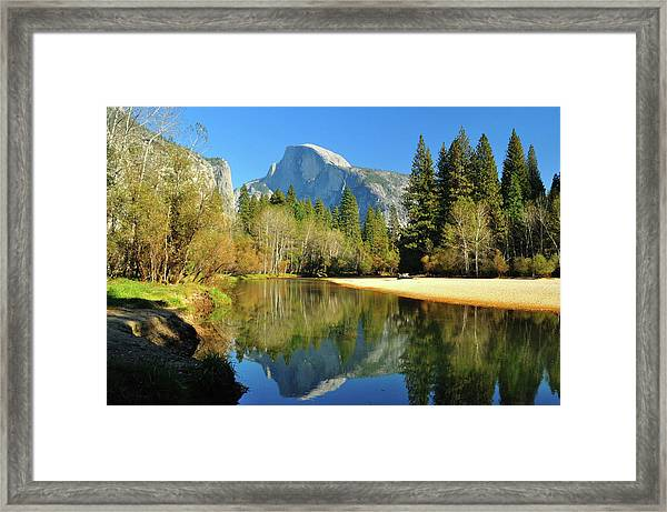 Reflections Of Half Dome Framed Print