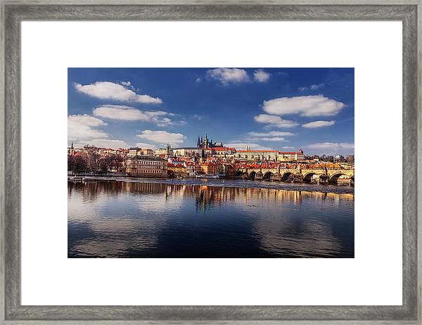 Reflections Of Prague Framed Print by Andrew Soundarajan