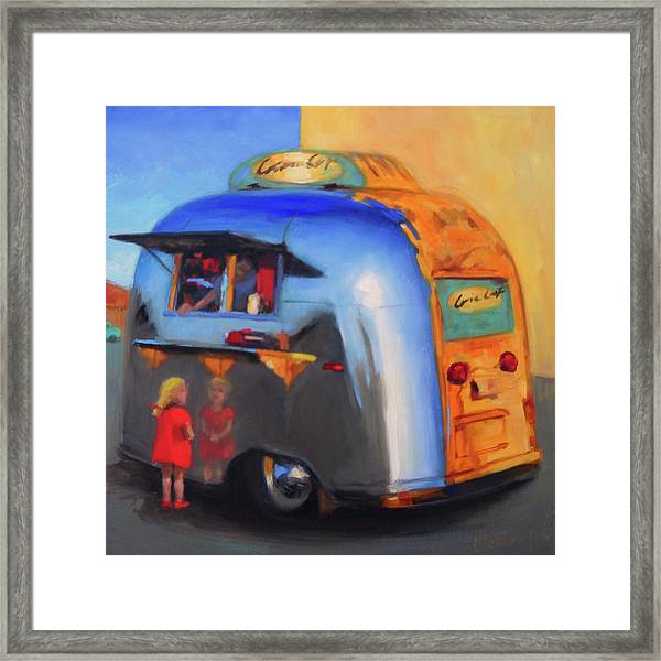 Reflections On An Airstream Framed Print