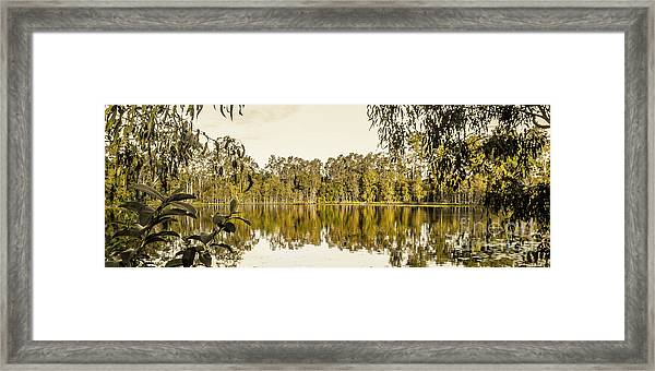 Reflective Rivers Framed Print