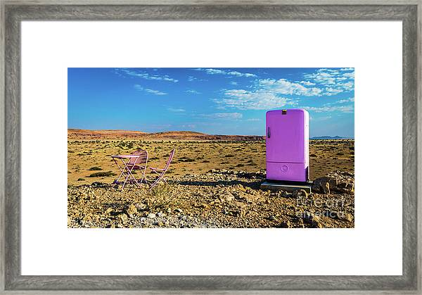 Refreshments Pit Stop In The Middle Of Nowhere Framed Print