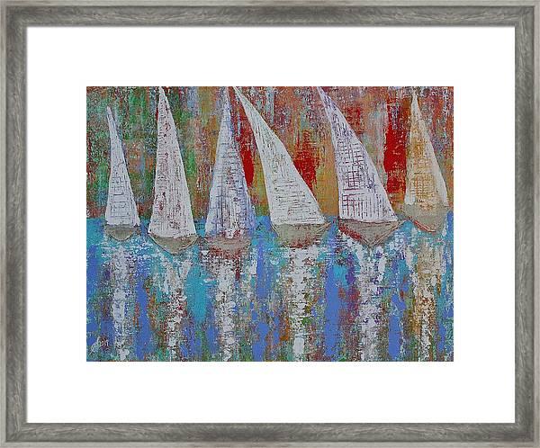 Regatta Original Painting Framed Print