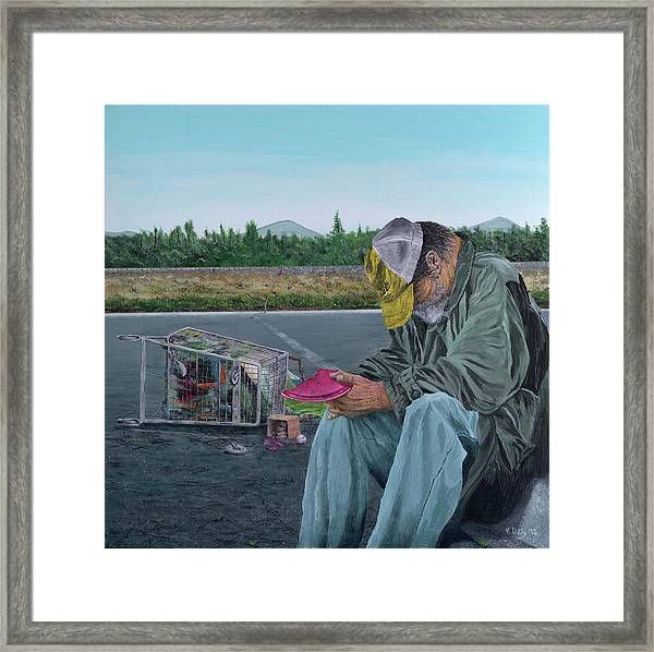 Framed Print featuring the painting Regret by Kevin Daly
