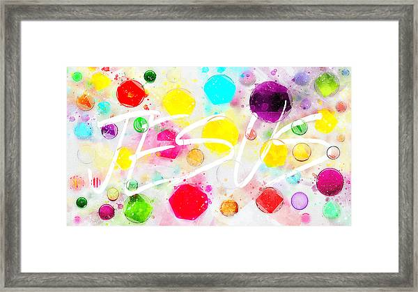 Rejoice And Take \courage/ Framed Print