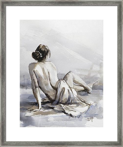 Relaxed Framed Print