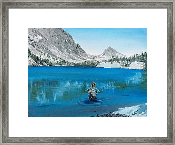 Framed Print featuring the painting Relaxing At Skelton by Kevin Daly