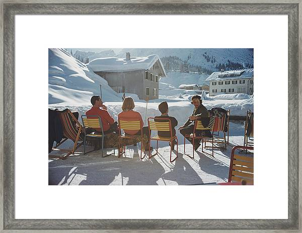 Relaxing In Lech Framed Print