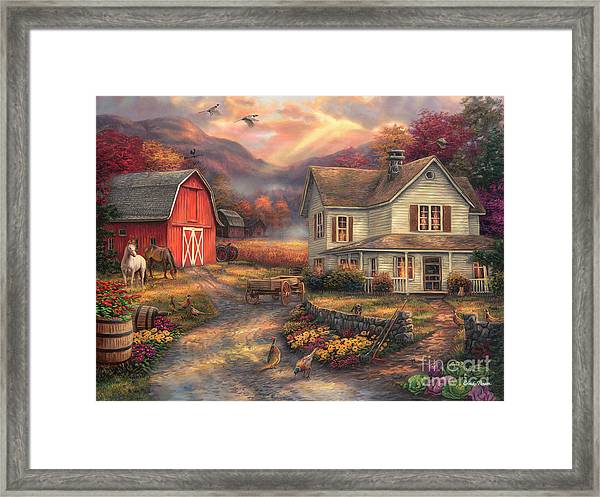 Relaxing On The Farm Framed Print