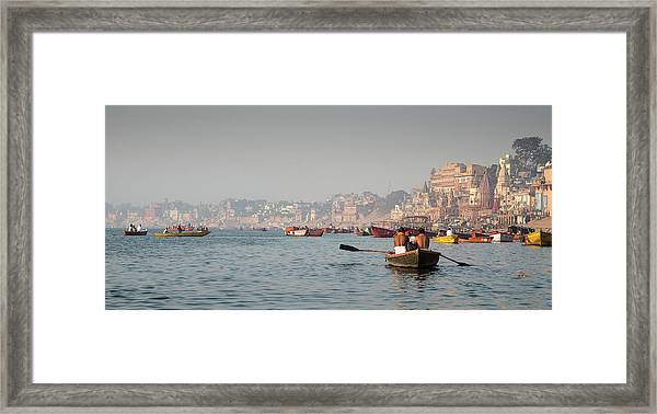 Religious River Of Ganges In India Framed Print
