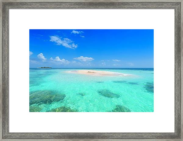 Remote Islands In The Ocean Framed Print