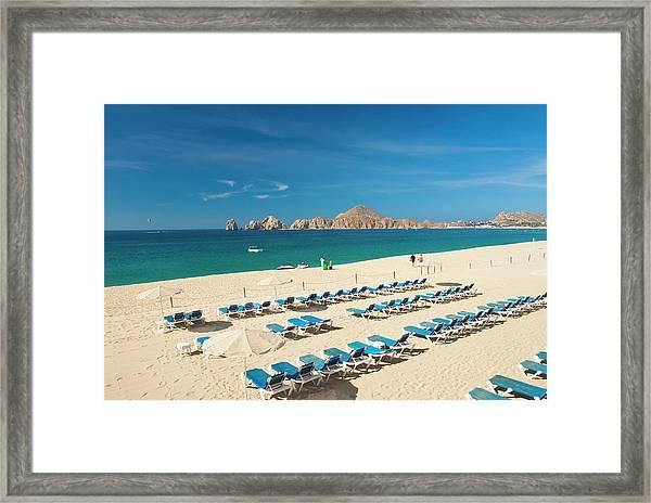 Resort Beach Chairs Framed Print