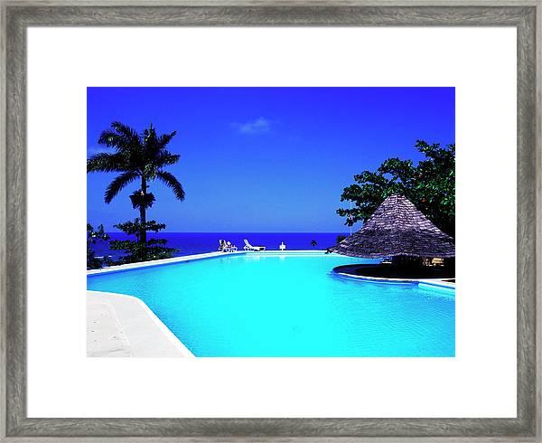 Resort Pool Framed Print