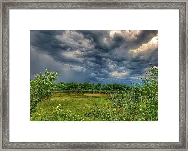 Restless Sky Framed Print