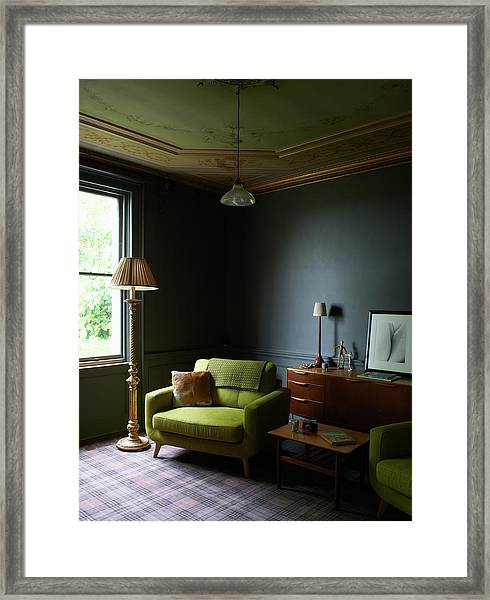Retro Furniture In Traditional Drawing Framed Print