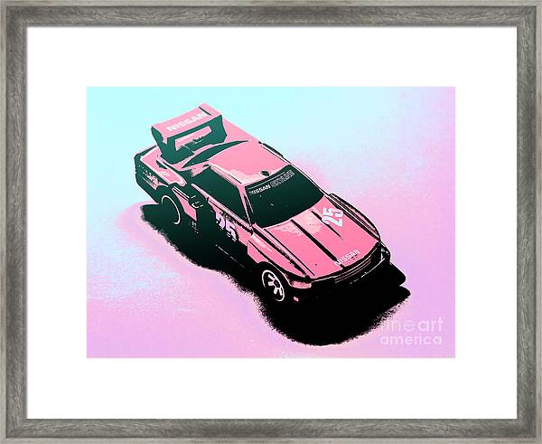 Retro Race Colours Framed Print
