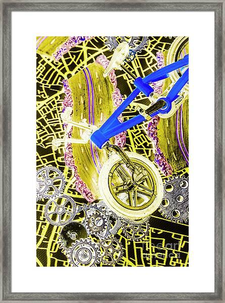 Retro Racer Framed Print