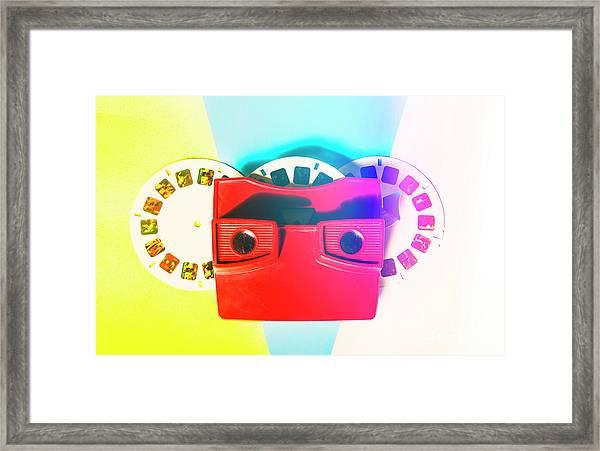 Retro Reel Framed Print