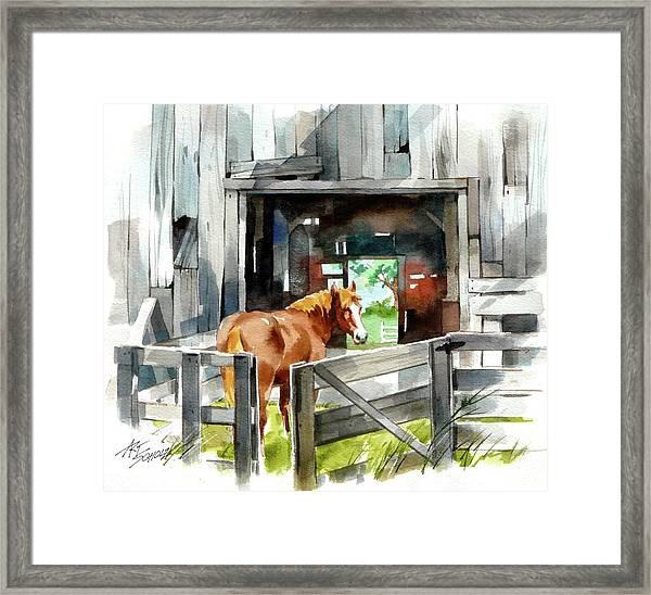 Returning Home Framed Print by Art Scholz