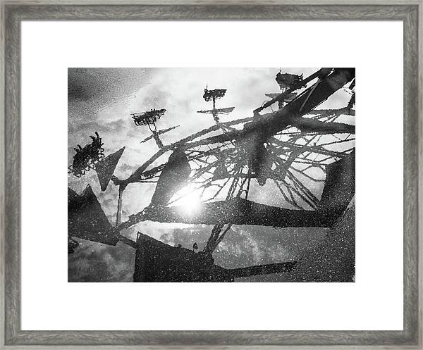 Ride Reflection Framed Print