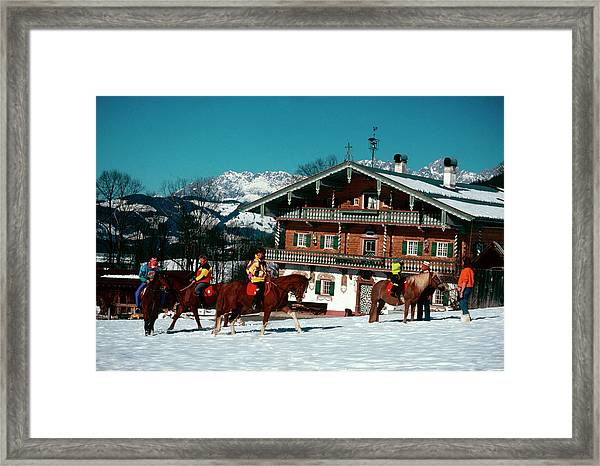 Riders At The Erbhof Framed Print