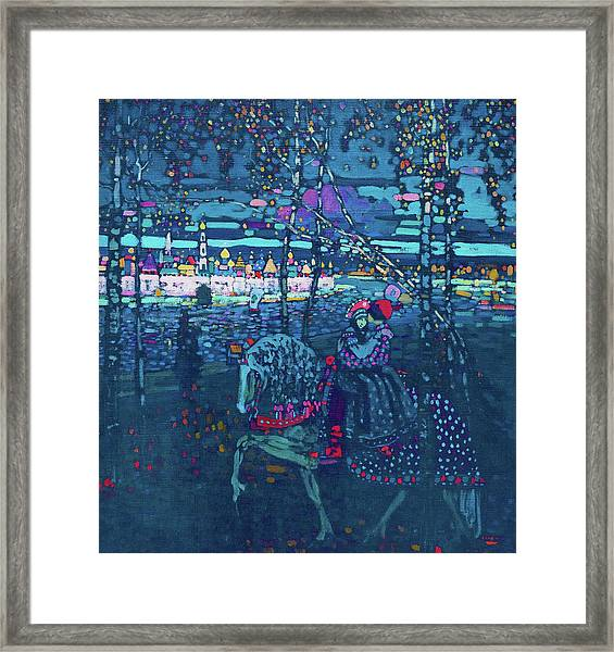 Riding Couple - Digital Remastered Edition Framed Print