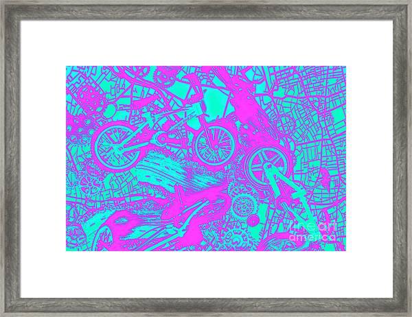 Riding Retro Routes Framed Print