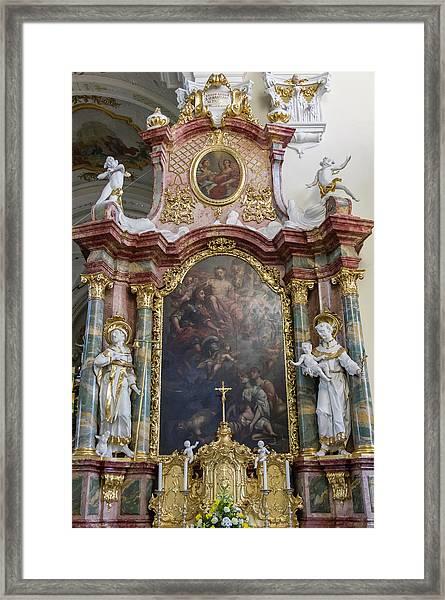 Right Side Of The Altar Framed Print