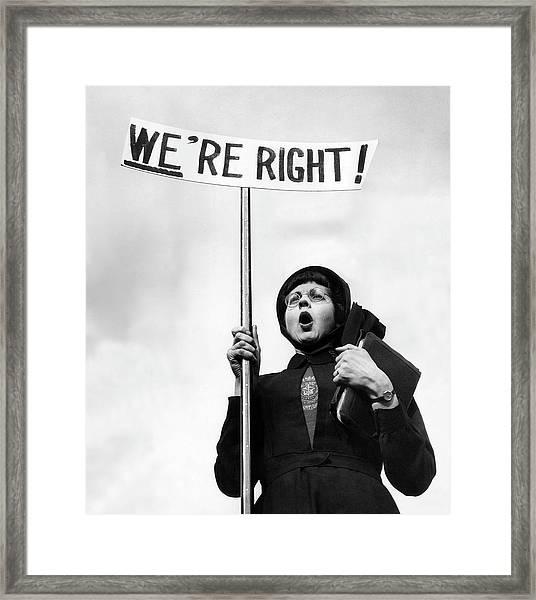 Righteous Framed Print