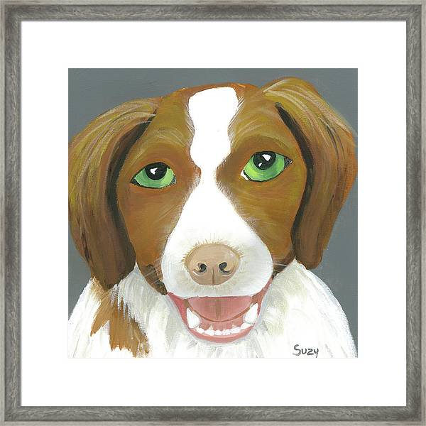 Framed Print featuring the painting Riley by Suzy Mandel-Canter