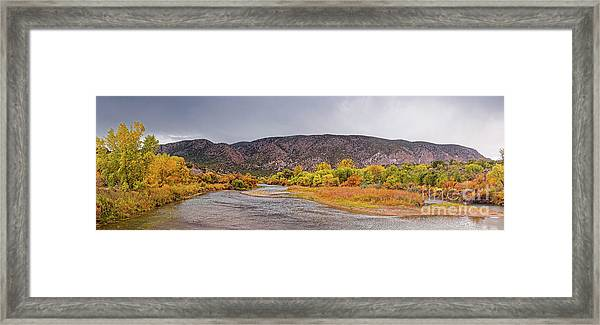 Rio Grande Del Norte As It Makes Its Way Through Orilla Verde - Pilar New Mexico Framed Print