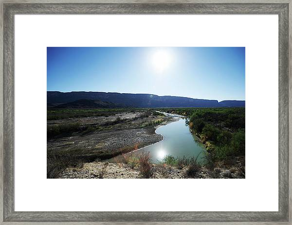Rio Grande River At Big Bend Framed Print