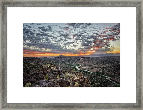 Rio Grande River Sunrise 2 - White Rock New Mexico Framed Print