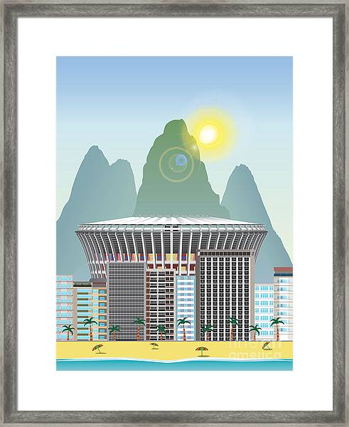 Rio Landmark Framed Print by Nikola Knezevic