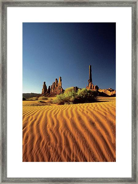 Ripples In The Sand, Monument Valley Framed Print