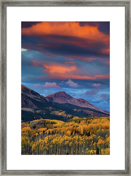 Framed Print featuring the photograph Rising Color  by John De Bord