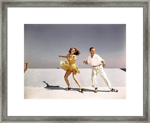 Rita Hayworth And Fred Astaire Framed Print