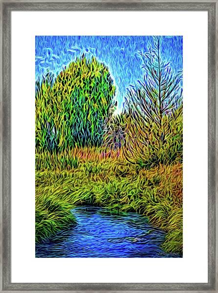 River Aura Melody Framed Print
