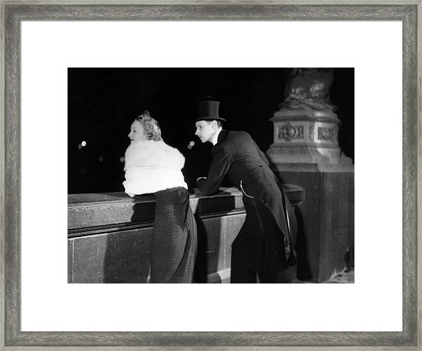 River Couple Framed Print by General Photographic Agency