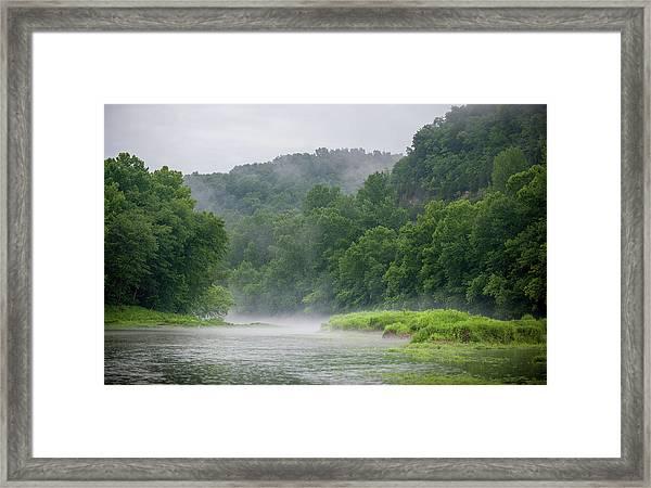 River Mist Framed Print