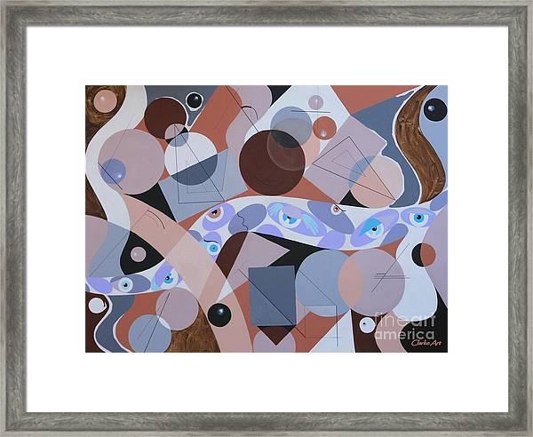River Of Eyes Framed Print