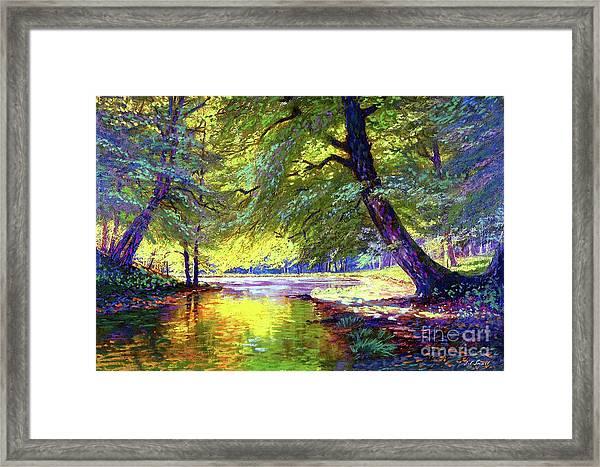 River Of Gold Framed Print