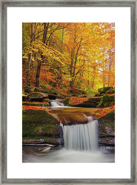 River Rapid Framed Print
