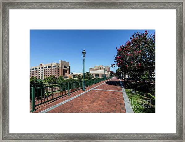 Riverwalk Downtown Augusta Ga Framed Print