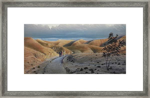 Road To Emmaus Framed Print
