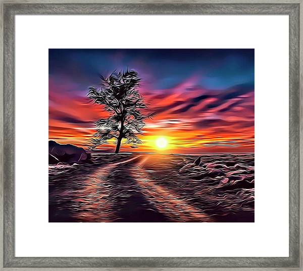 Road To Riches Framed Print