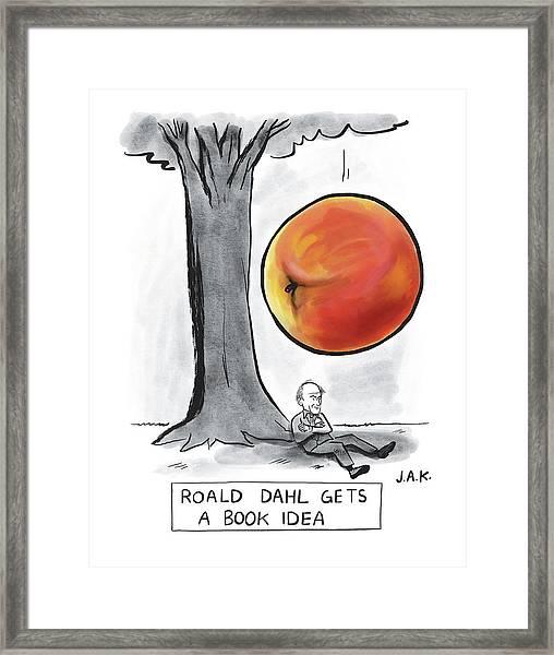 Roald Dahl Gets A Book Idea Framed Print